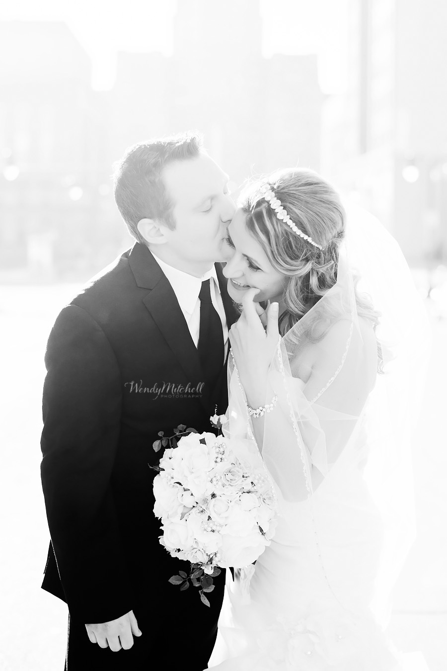 Bride & Groom on city street | Buffalo Wedding Photography | Wendy Mitchell Photography