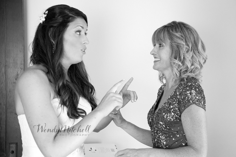 Bride telling her mom not to cry | Buffalo Wedding Photography | Wendy Mitchell Photography