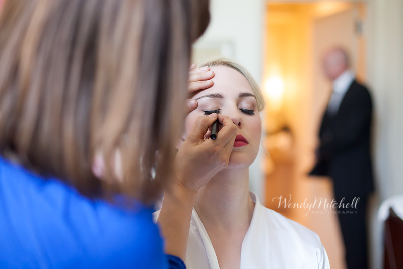 Bride getting her makeup done by Salon A Go Go | Buffalo Wedding Photography | Wendy Mitchell Photography