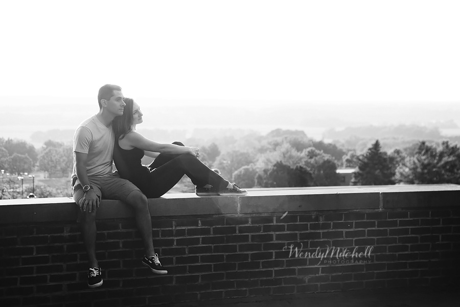 Engaged couple at SUNY Geneseo | Wendy Mitchell Photography