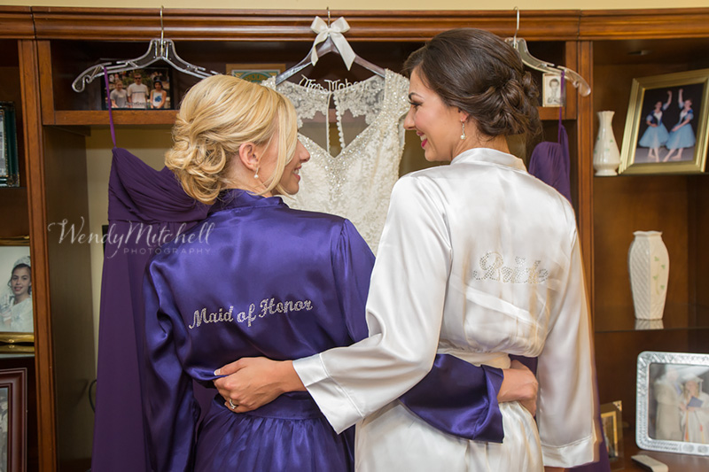 Bride with her maid of honor, her sister | Buffalo Wedding Photography | Wendy Mitchell Photography