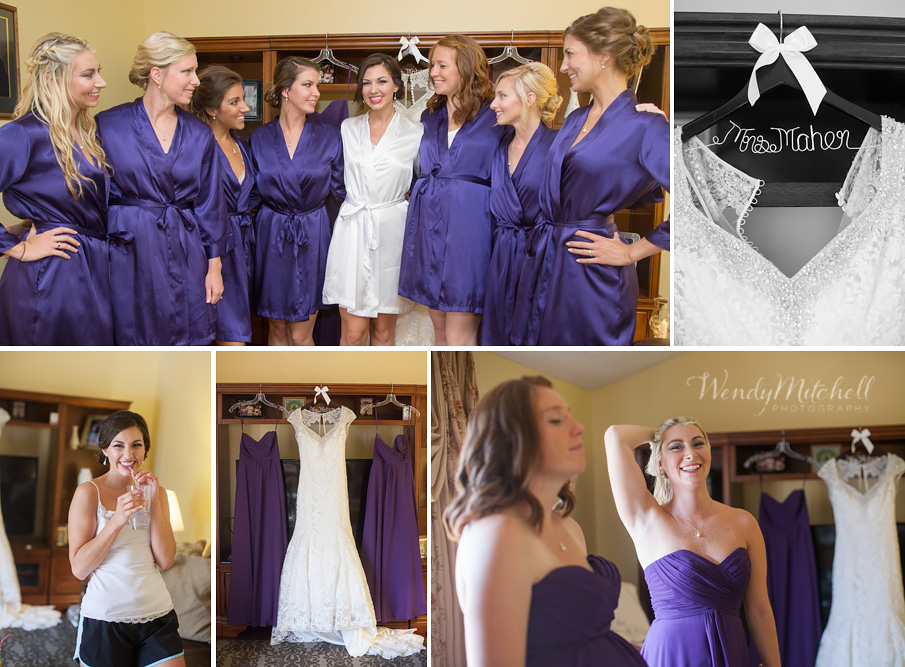 Bride and bridesmaids getting ready at her parents' house | Buffalo Wedding Photography | Wendy Mitchell Photography