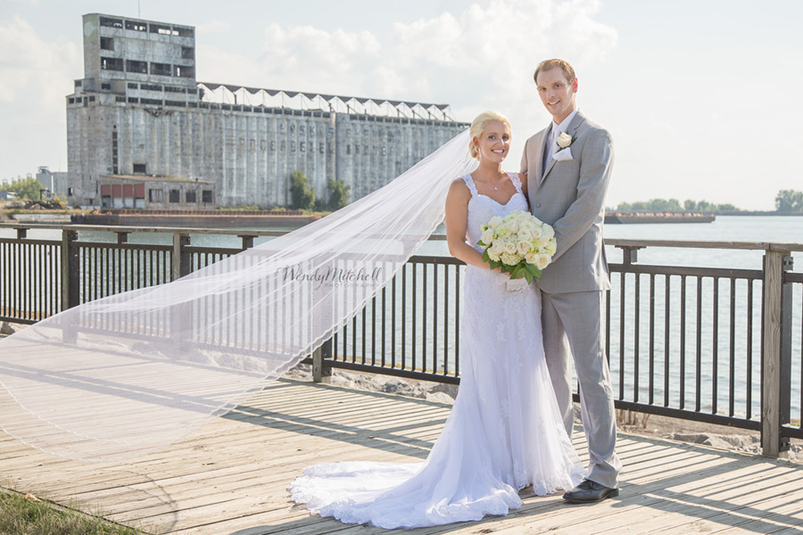 Bride & Groom at Gallagher Pier | Buffalo Wedding Photography | Wendy Mitchell Photography
