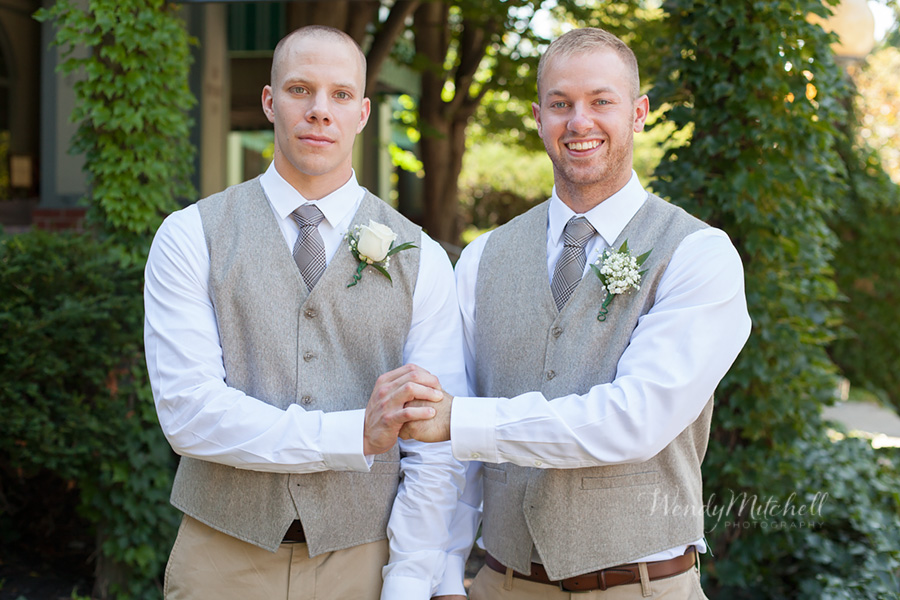 Groom with groomsman | Buffalo Wedding Photography | Wendy Mitchell Photography