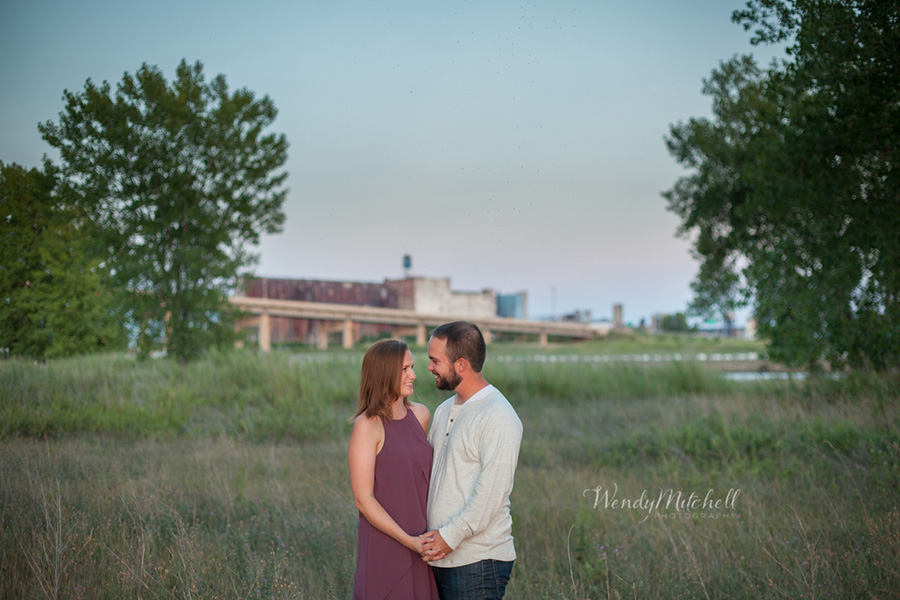 Engaged couple at Buffalo Outer Harbor | Buffalo Engagement Photography | Wendy Mitchell Photography